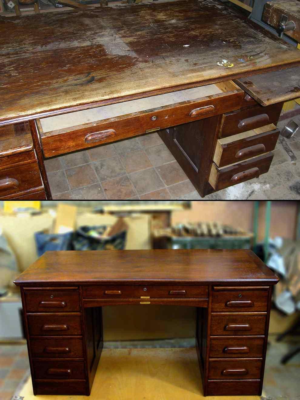Деревянный стол реставрация своими руками 38