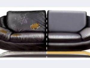 Перетяжка кожаного дивана в Воронеже