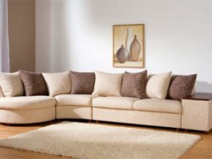 Перетяжка углового дивана на дому в Воронеже